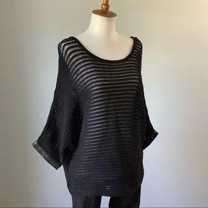 Club Monaco Dolman Sleeve Open Weave Knit Sweater